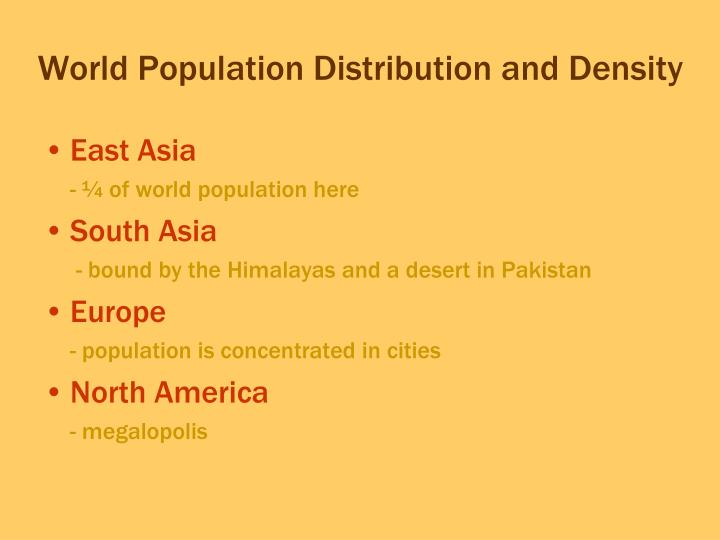 World Population Distribution and Density