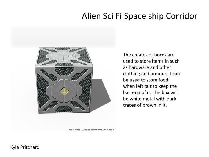Alien sci fi space ship corridor2