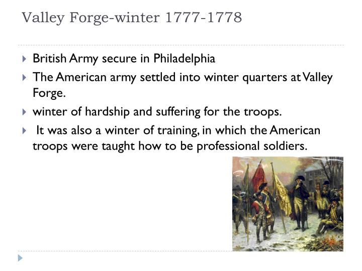 Valley Forge-winter 1777-1778