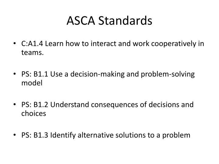 Asca standards