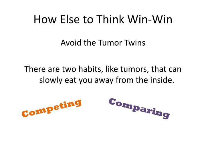 How Else to Think Win-Win