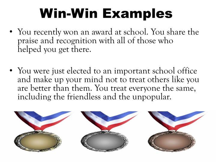 Win-Win Examples