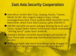 east asia security cooperation