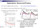 applications gluons and protons