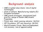 background analysis