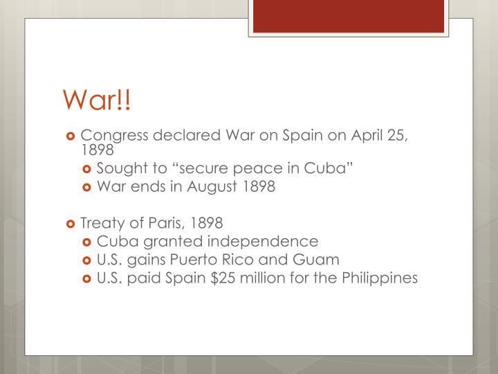 War!!