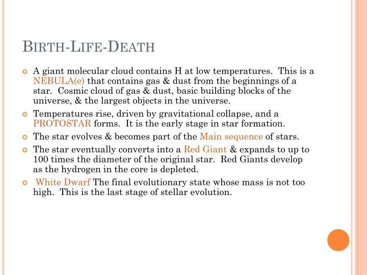 Birth-Life-Death