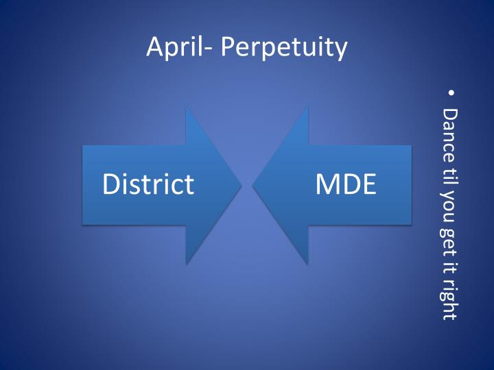 April- Perpetuity