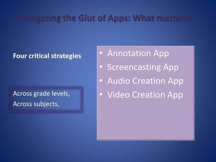 Four critical strategies