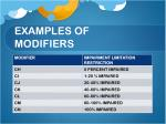 examples of modifiers