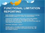 functional limitation reporting