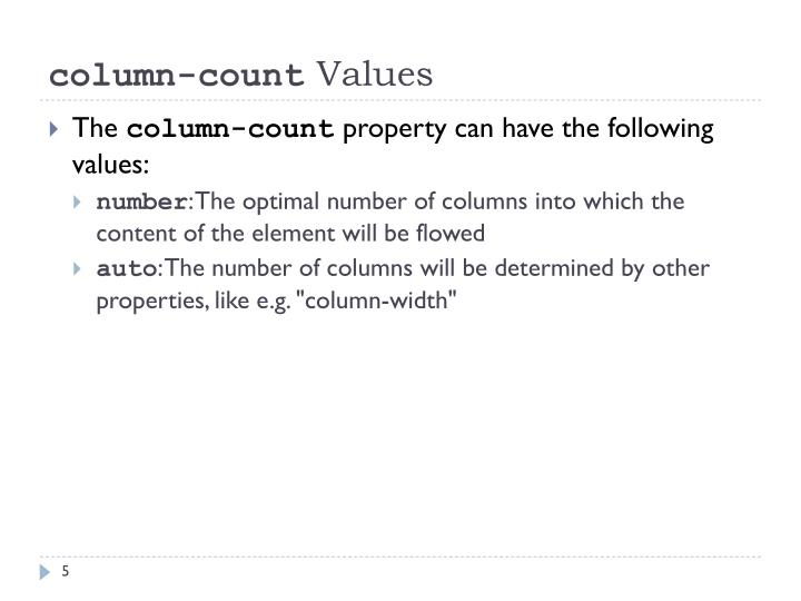 column-count