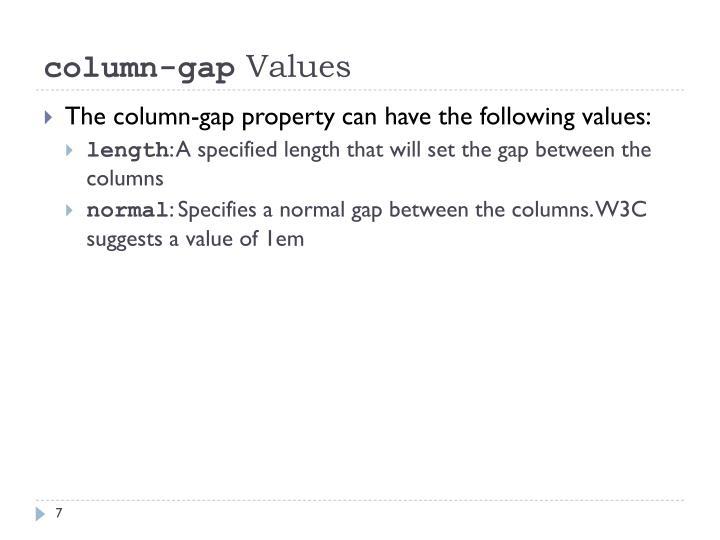 column-gap