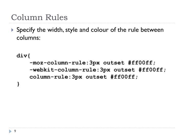 Column Rules