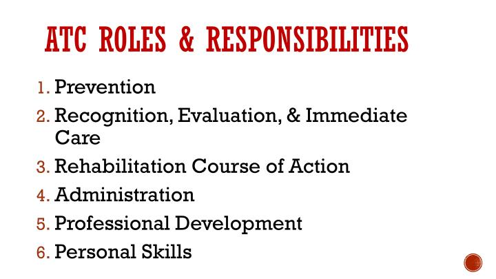 ATC Roles & responsibilities