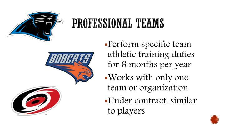 Professional teams