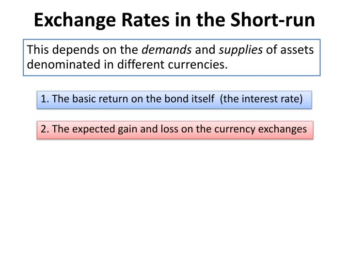 Exchange Rates in the Short-run