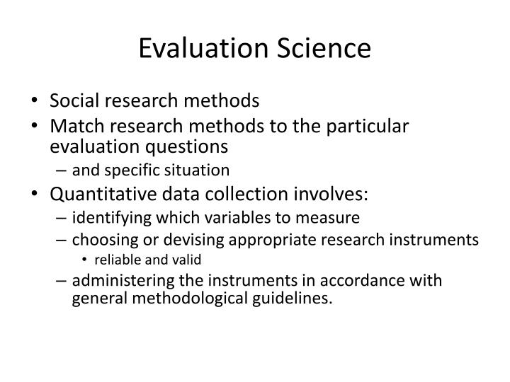 Evaluation Science