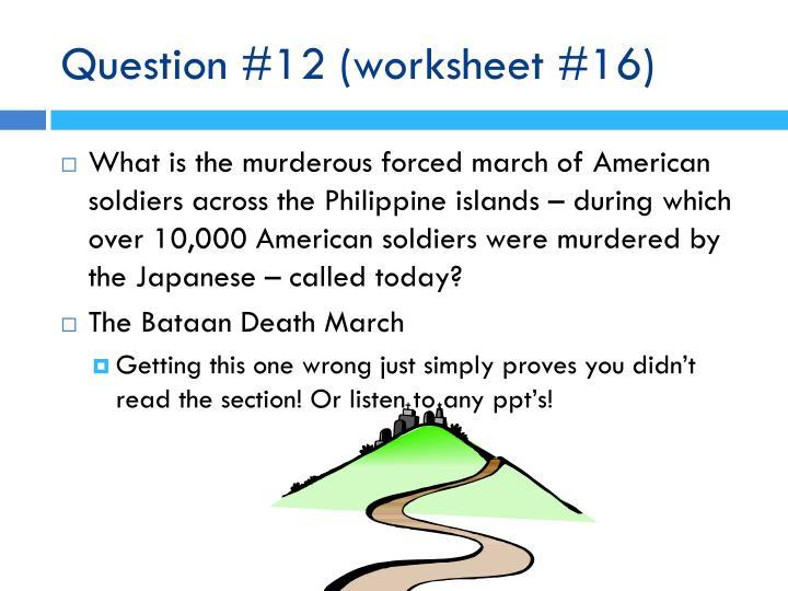 Question #12