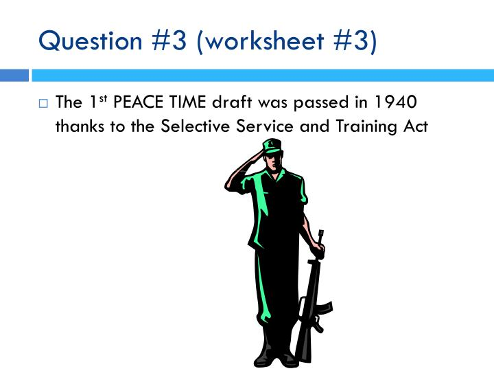 Question 3 worksheet 3