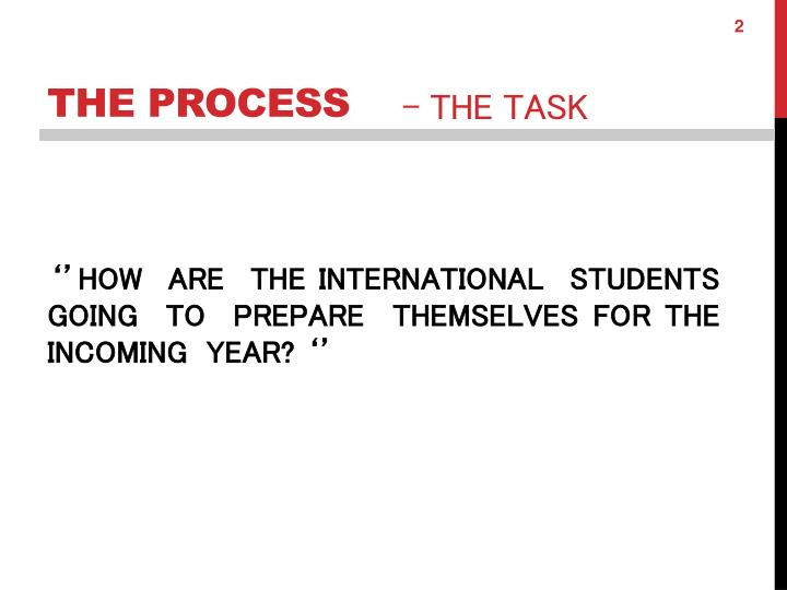 ''HOW  ARE  THE INTERNATIONAL  STUDENTS  GOING  TO  PREPARE  THEMSELVES FOR THE  INCOMING  YEAR? ''