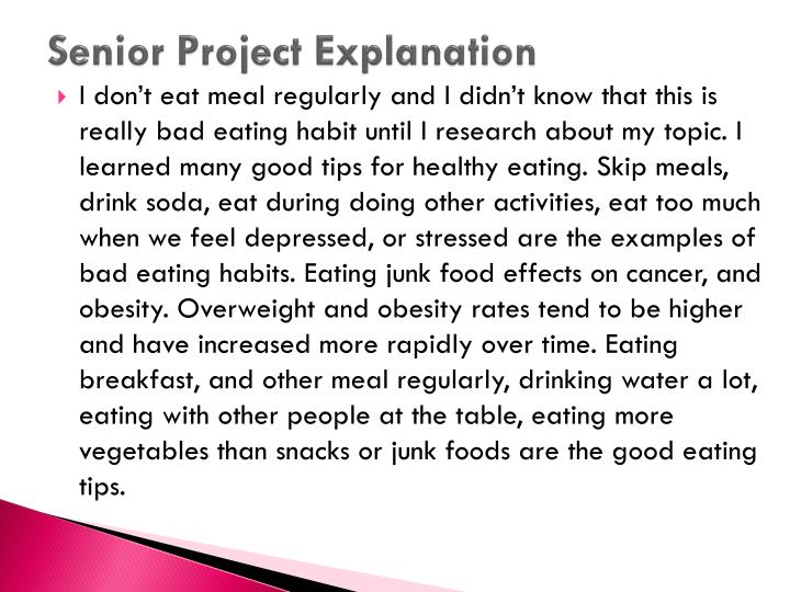 Senior Project Explanation