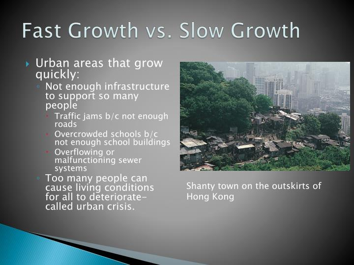 Fast growth vs slow growth