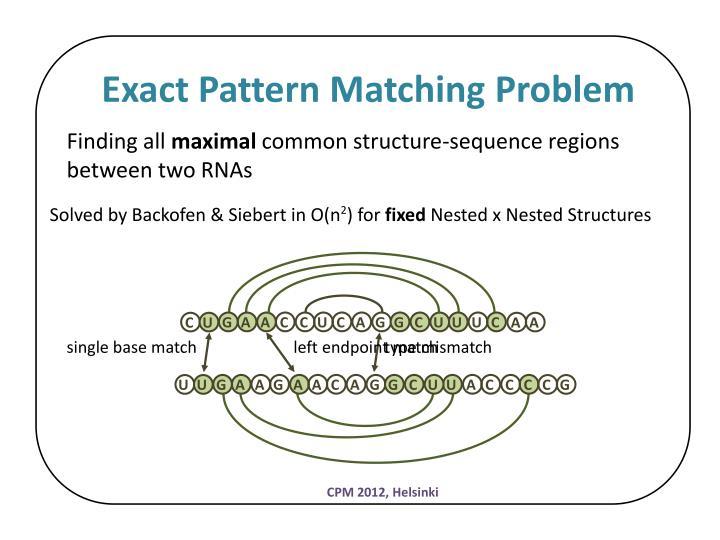 Exact Pattern Matching Problem
