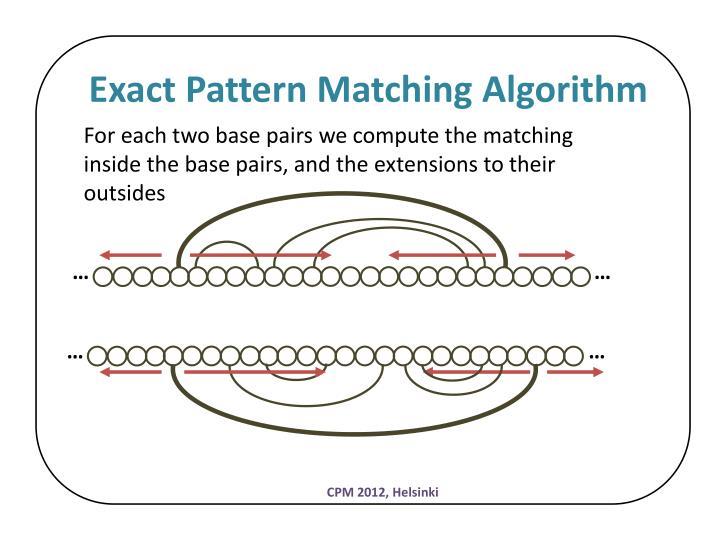 Exact Pattern Matching Algorithm