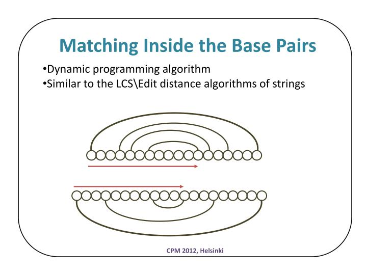 Matching Inside the Base Pairs