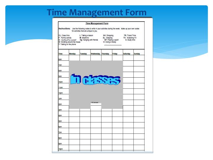 Time Management Form