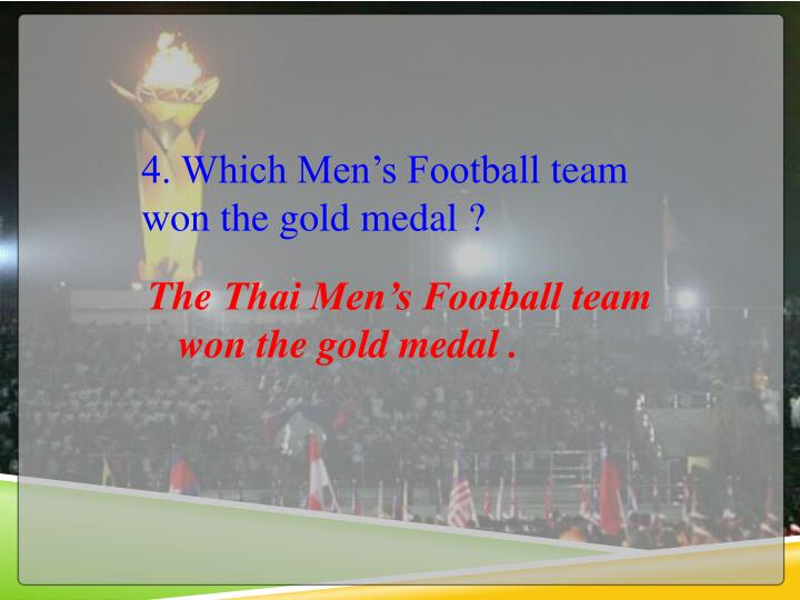 4. Which Men's Football