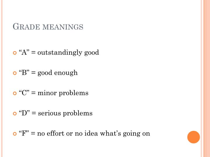 Grade meanings