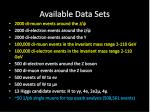 available data sets2