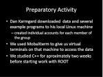 preparatory activity
