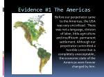 evidence 1 the americas