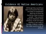 evidence 2 native americans