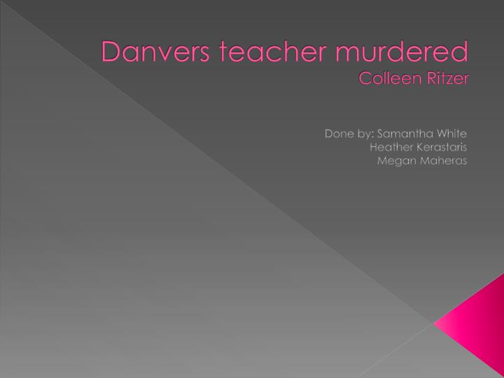 danvers teacher murdered colleen ritzer n.