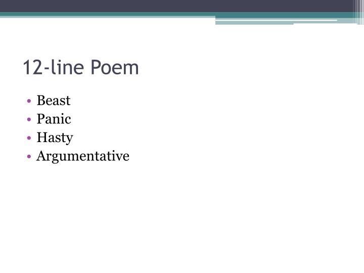 12-line Poem