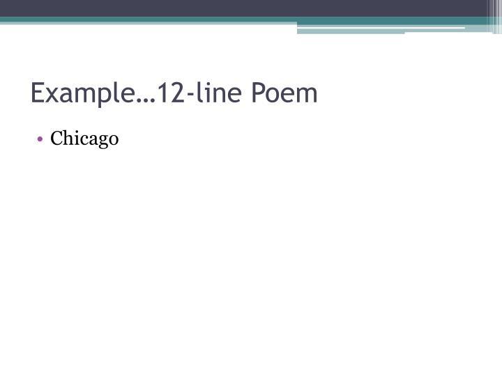 Example…12-line Poem