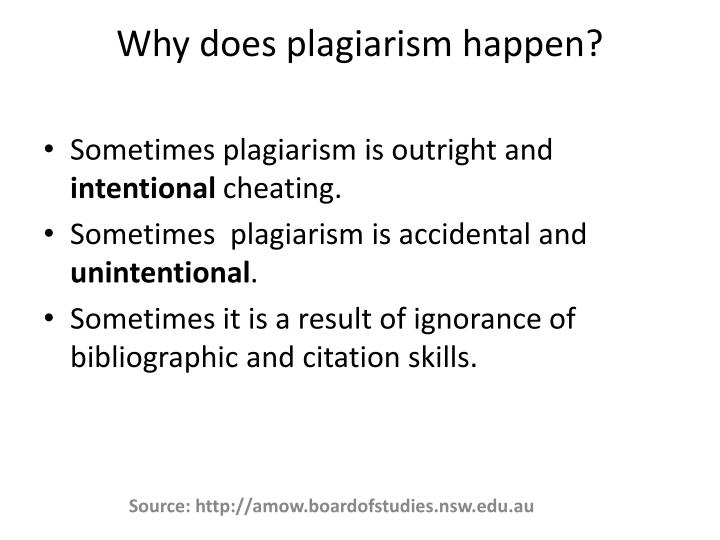 Why does plagiarism happen?