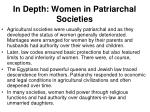 in depth women in patriarchal societies