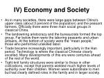 iv economy and society
