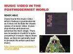 music video in the postmodernist world