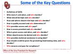 some of the key questions