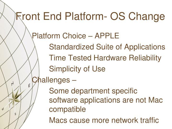 Front End Platform- OS Change