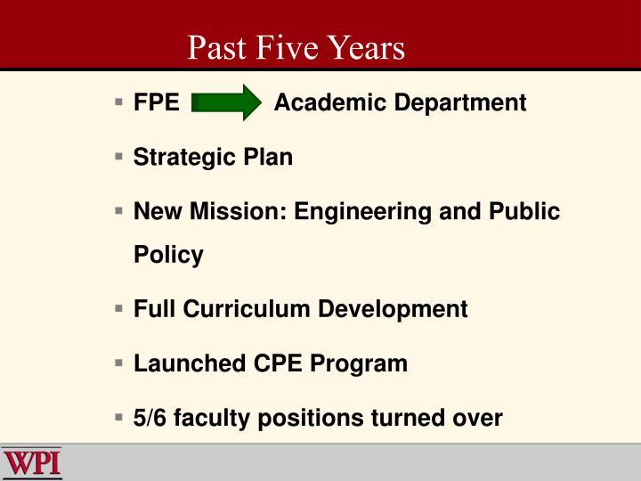 FPE Academic Department