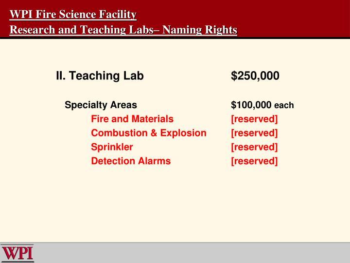 WPI Fire Science Facility