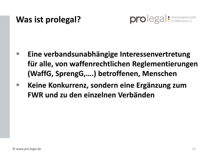 Was ist prolegal?