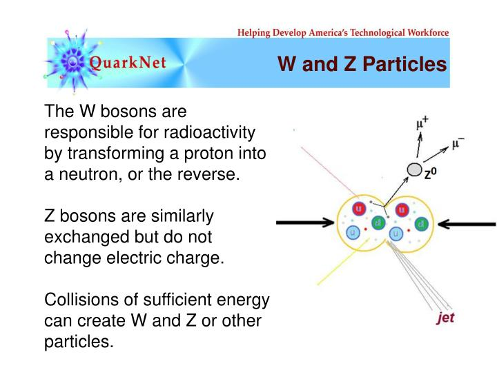 W and Z Particles